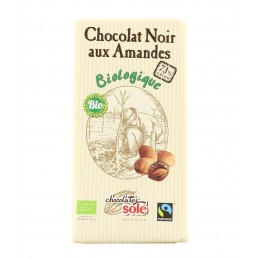 Chocolat noir aux amandes...