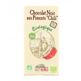 Chocolat noir au chili 73%...